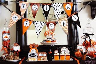 Halloween: Decoração laranja e preta