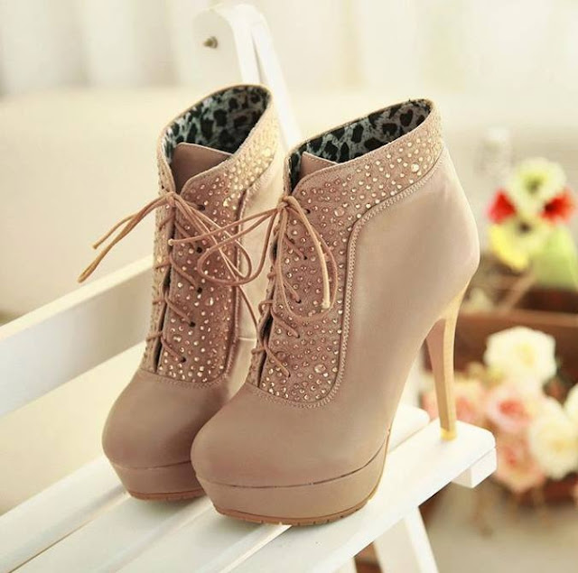 Adorable cute high heel shoes fashion