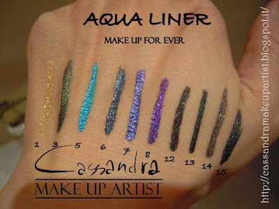 aqua liner make up for ever eyeliner mufe swatches INCI ingredienti
