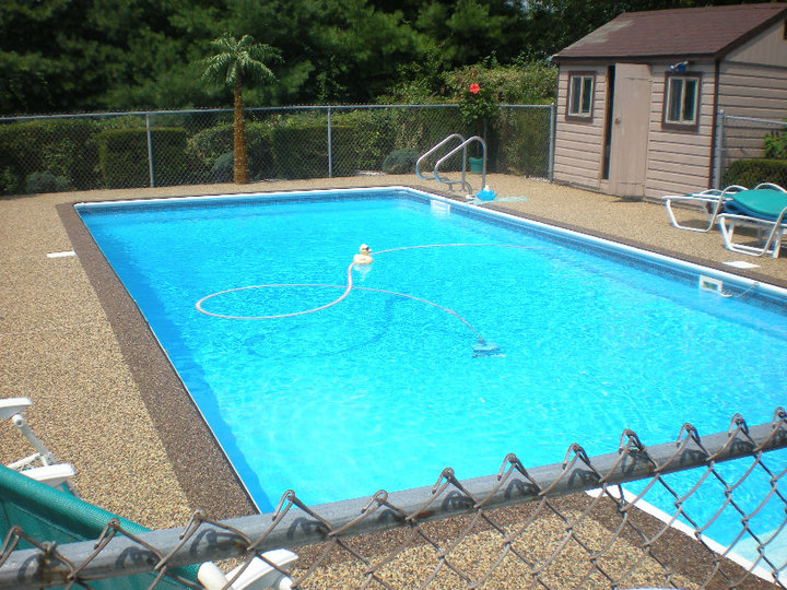 Rustic terrazzo coatings resurfacing overlays exposed for Swimming pool resurfacing