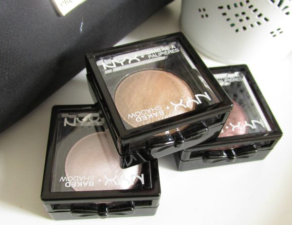 NYX Baked Eyeshadows Swatches