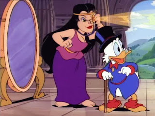 Animated Circe with Scrooge McDuck from Ducktales