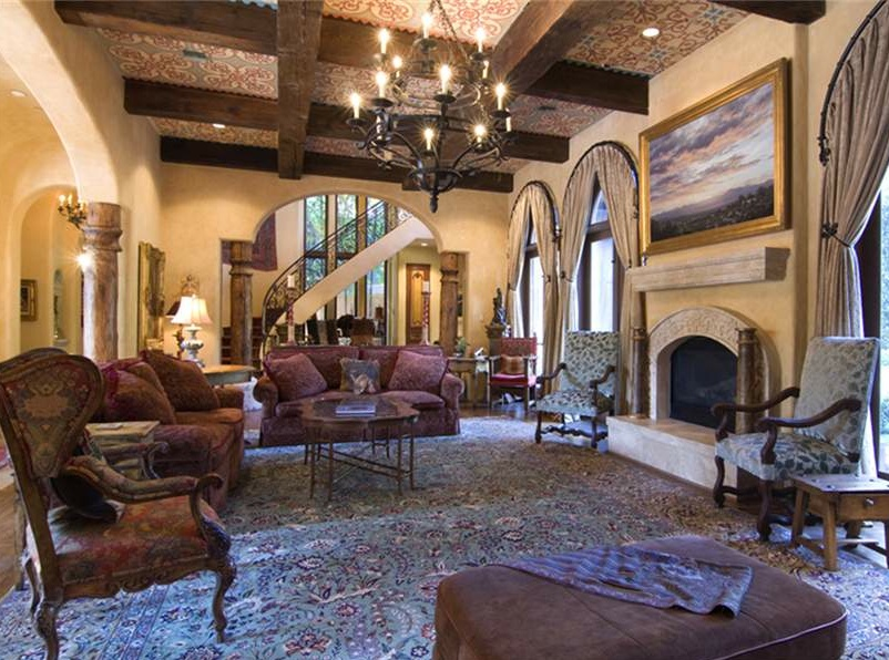 Tuscan style the old world charm of tuscan style for Tuscan style homes interior