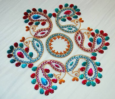 Peacock Shaped Rangoli