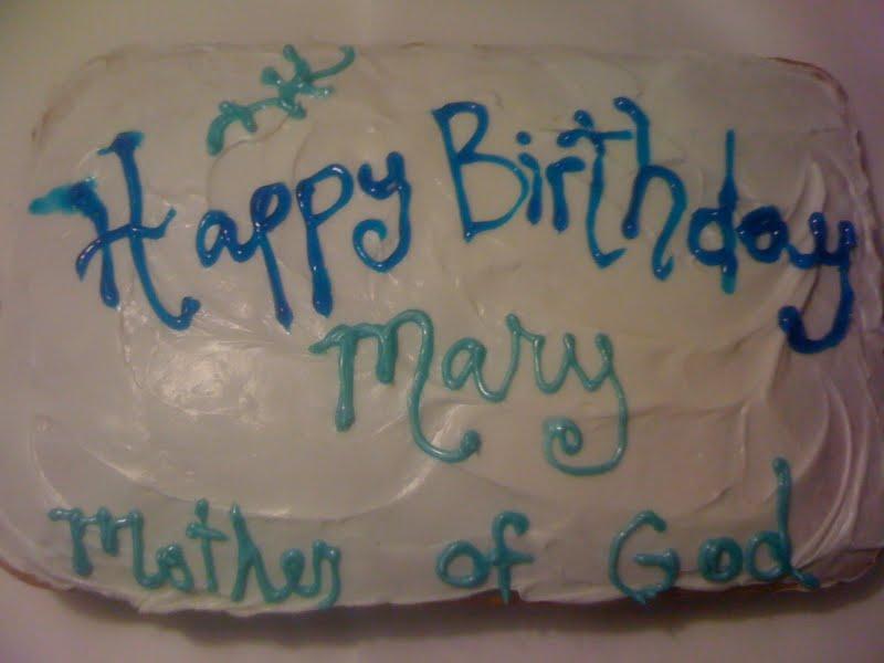 Catholic Cuisine Mary Cakes