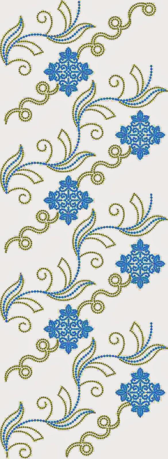 Indiese borduurwerk naaldwerk projek Oral patroon