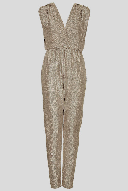 gold jumpsuit