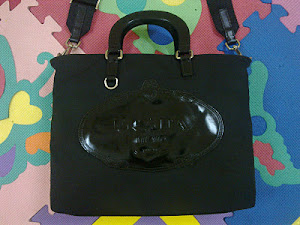 Prada Microfiber Black Nylon Leather Shoulder Bag(SOLD)