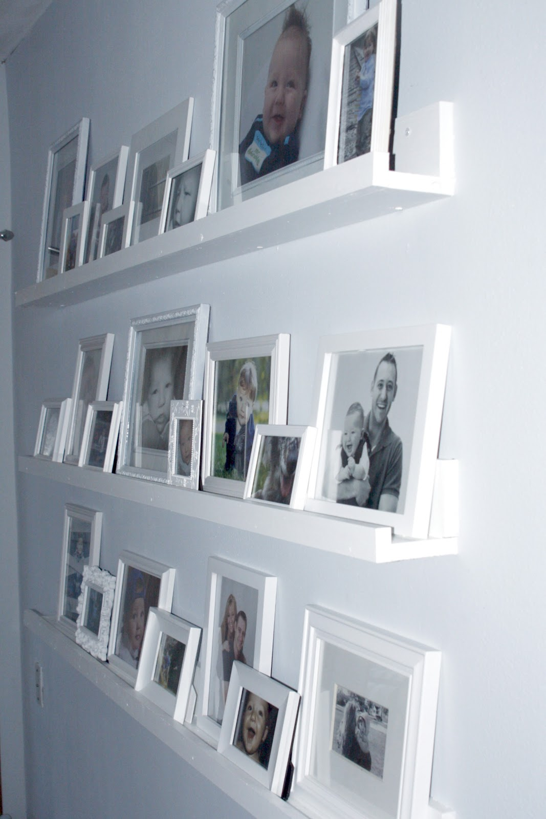 Always chasing life gallery wall shelves completed for Wall of framed pictures
