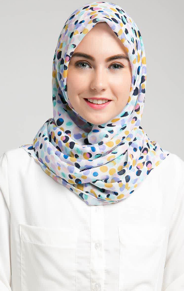 Contoh Kreasi Hijab Modern Segi Empat Terbaru 2015