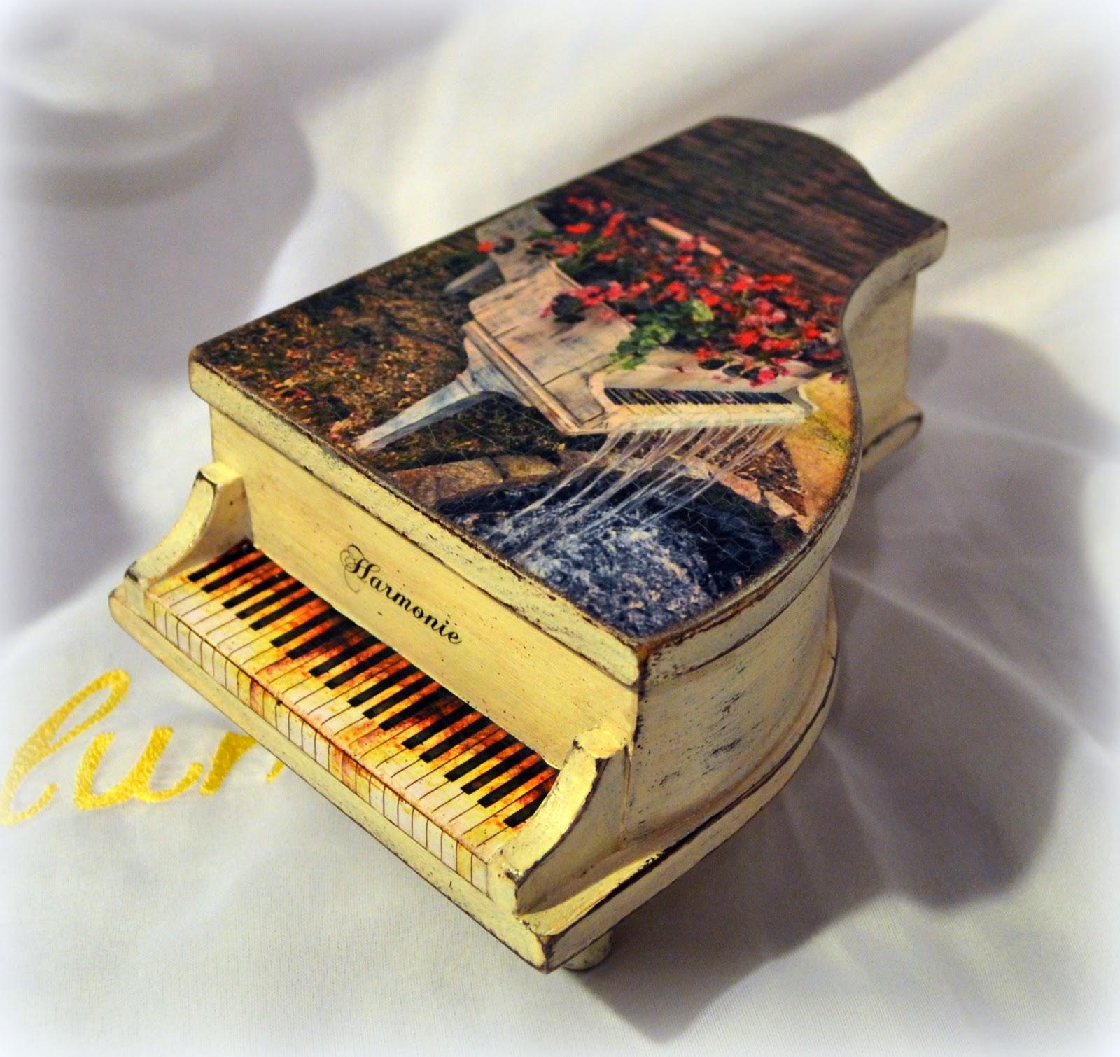 Шкатулка фортепиано своими руками