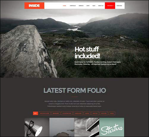 Inside – Creative Parallax and Scroll Theme