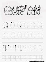 Belajar Menulis Huruf Abjad Q