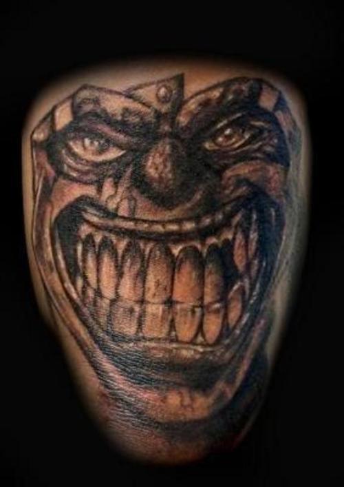 1990tattoos joker clown tattoos