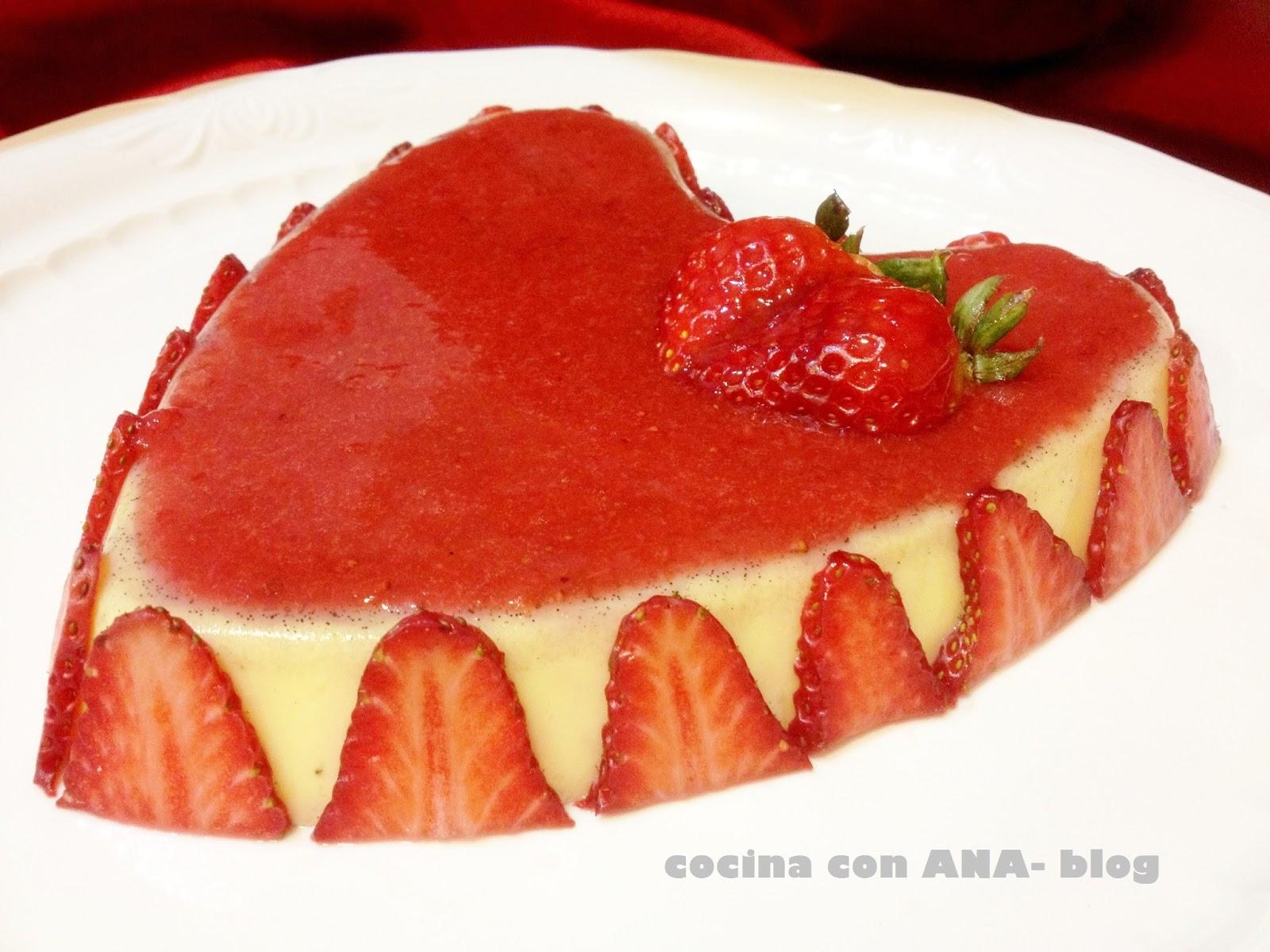 Cocina con ana corazon de fresas y vainilla - Ana cocina facil ...