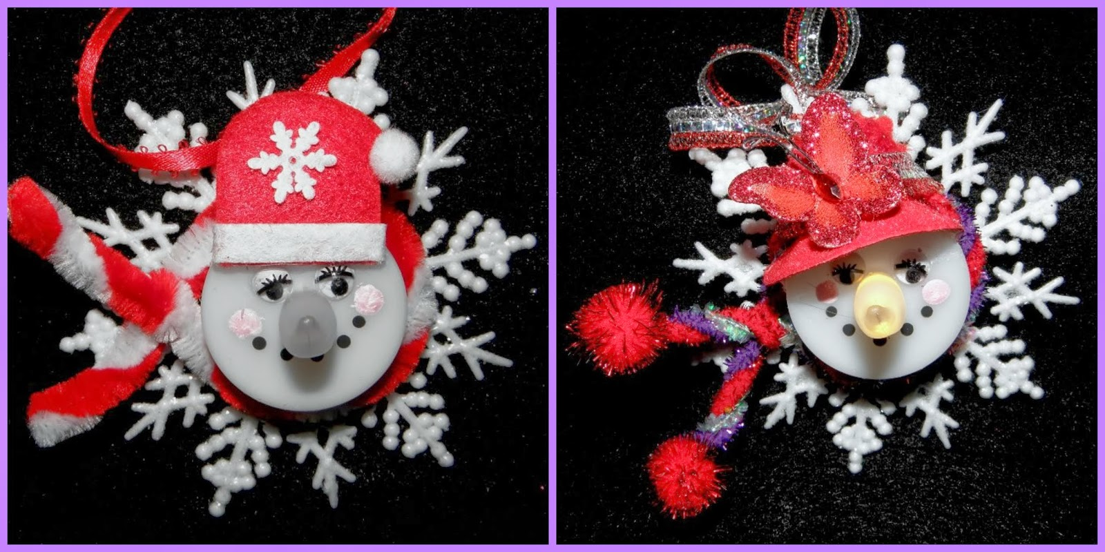 Superb ... Tea Light Snowman Ornament. Lori Posted Her Version In The Red Hat  Crafts And Hats Group On Facebook, And Of Course, She Put Her Own Red Hat  Spin On It.