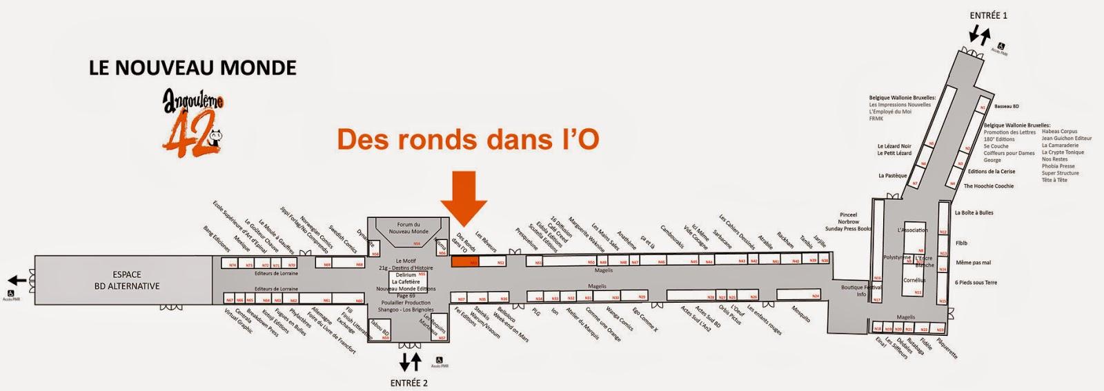 Plan du Nouveau Monde - FIBD Angoulême 2015 : agrandir (nouvelle fenêtre)