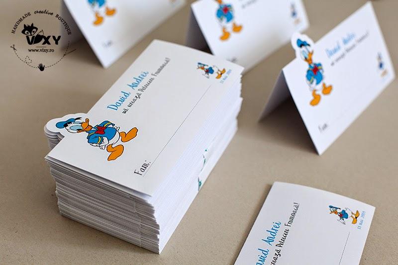 plic dar personalizat, plic bani Donald Duck, pachet petrecere Donald Duck, numar masa Donald Duck, meniu Donald Duck, meniu personalizat, plic dar personalizat, petrecere personalizata, produse handmade