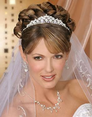 Modernos peinados para novia con velo novios y m s - Peinados de novia con flequillo ...