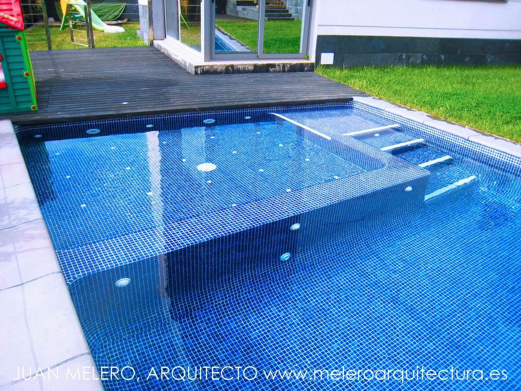 Melero arquitectura proyecto de piscina en corbera for Proyecto de piscina