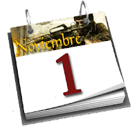 Calendario - Día 1 de Noviembre