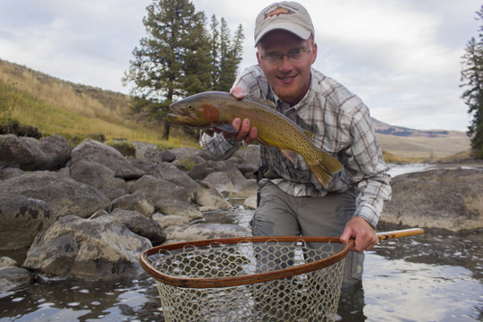 A nice cutthroat on the Lamar River in Yellowstone National Park