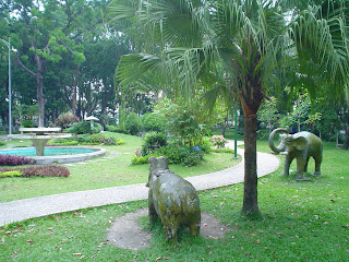 Elephants in park. Ho Chi Minh City (Vietnam)