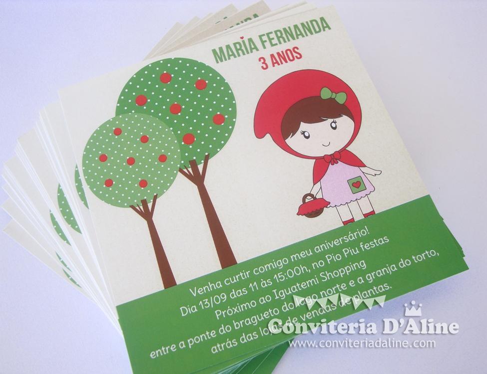 convites chapeuzinho vermelho