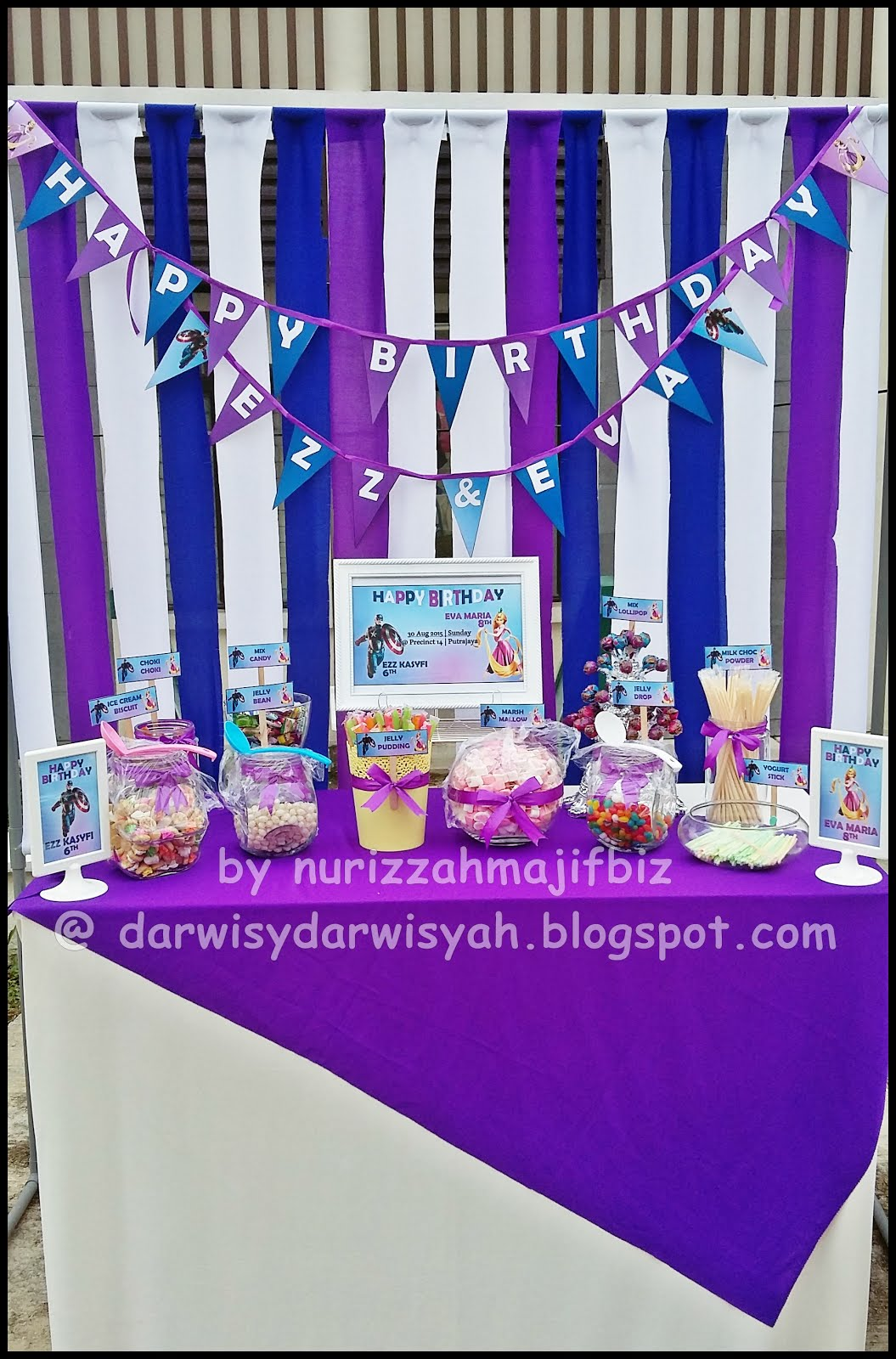 Birthday Celebration Ezz Kasyfi & Eva Maria | 30/8/2015@Presint 14, Putrajaya