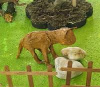 como hacer animales para maquetas