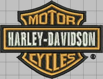 harley Davidson motorcycle free embroidery design