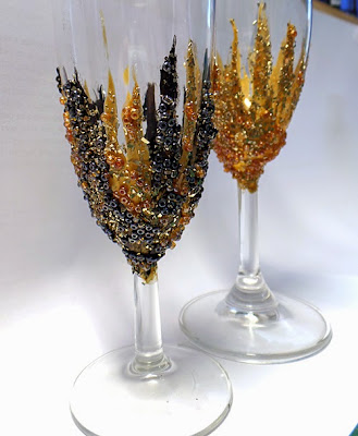 Crafty crusaders jazz up your wine glasses with pebeo for What paint do you use to paint wine glasses