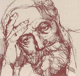 Porträt von Martin Buber auf Deutsche Bundespost zum 100. Geburtstag von Martin Buber (1878—1965) (Nennwert 50 Pfennig); Graphic designer: Gerd Aretz