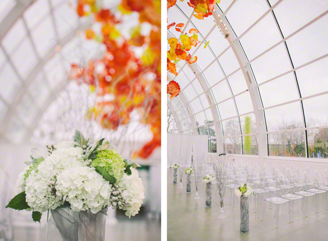 Chihuly garden and glass wedding