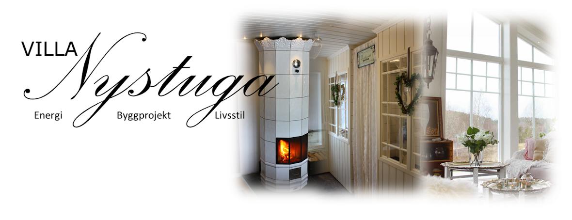 Villa Nystuga - Vårt lågenergihus på landet