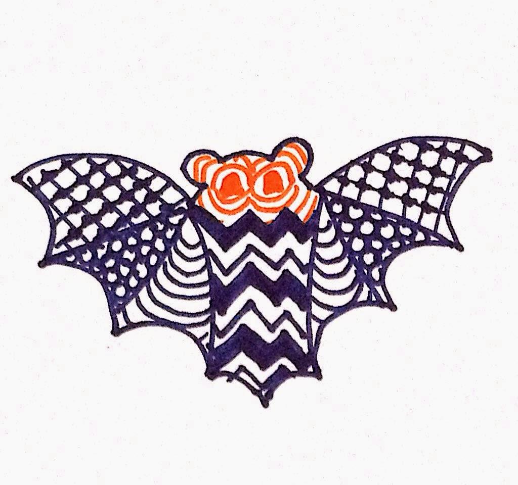 Zentangle Inspired Bat