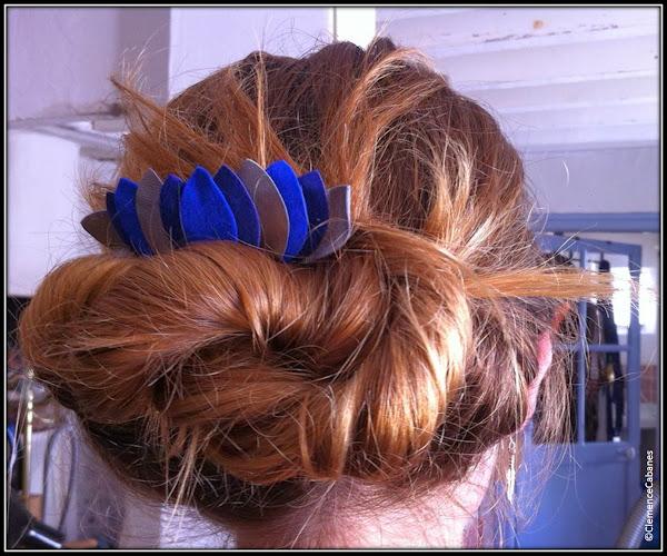 Hair Bijoux Clemence Cabanes pics cheveux cuir