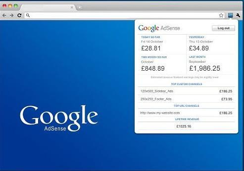 Adsense Chrome Toolbar Official Extension