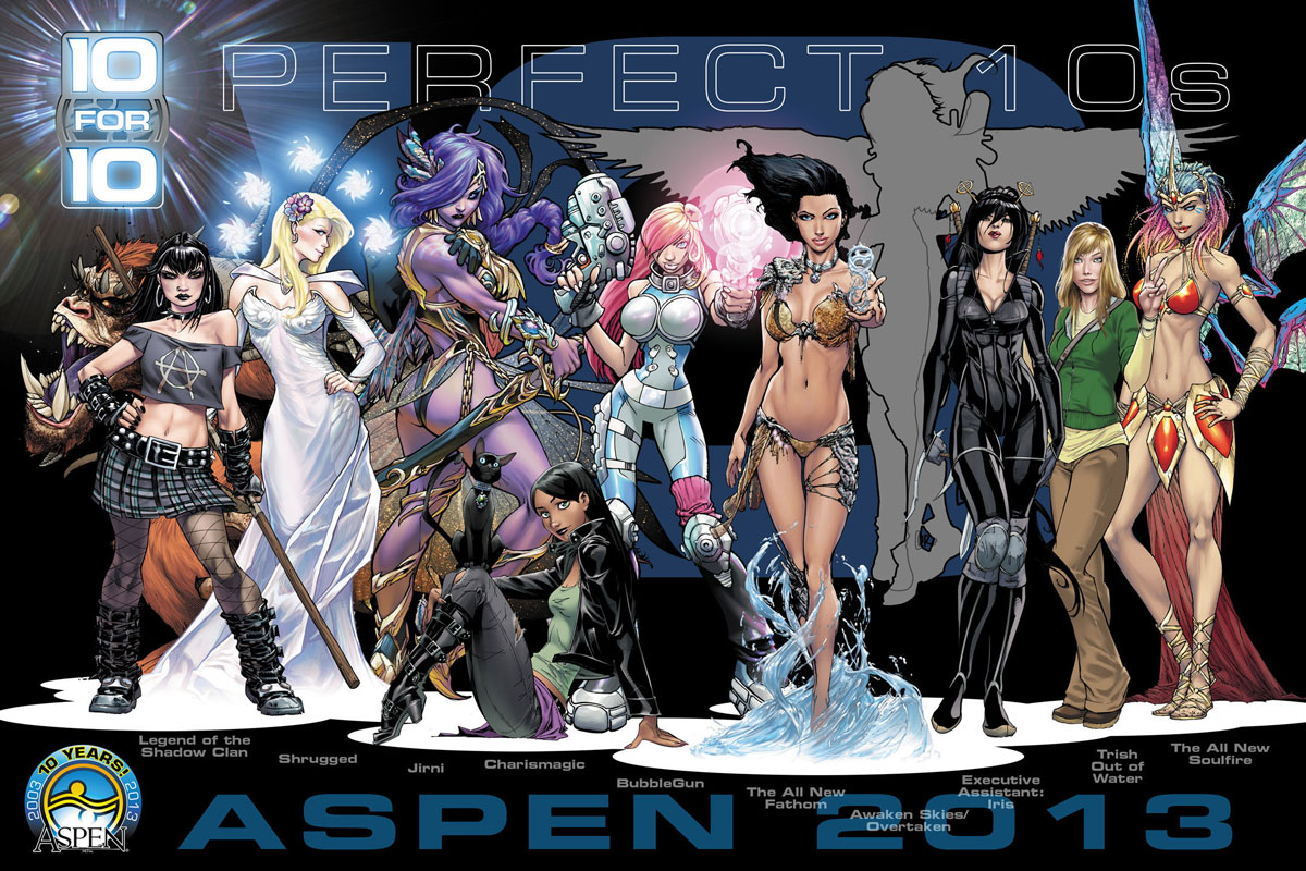 Aspen&rsquo;s Legend of the Shadow Clan #2 to Continue &ldquo;10 FOR 10&rdquo; with J. Scott Campbell incentive covers