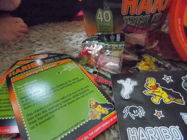 haribo halloween party game ideas and stickers invites