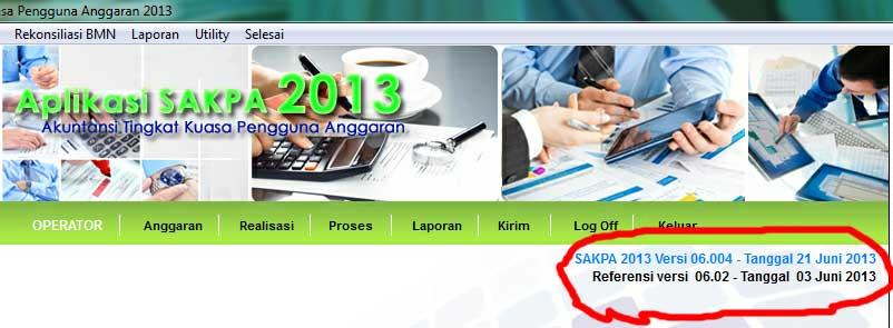 Update Aplikasi SAKPA Ver 06.004 (2 Juli 2013)