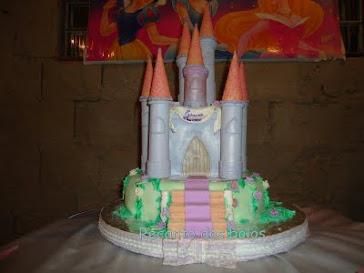 bolo castelo da Laureen