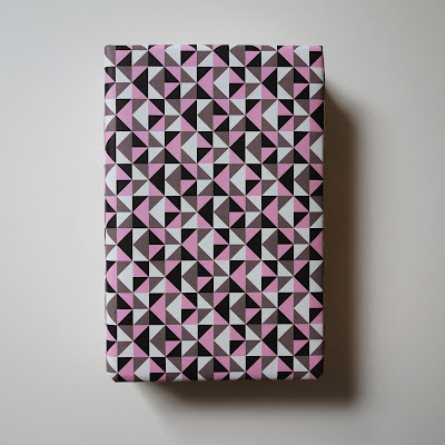 tesselated triangles recycled wrapping paper