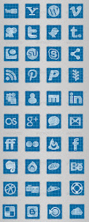40 Cool Blueprint Social Media Icons