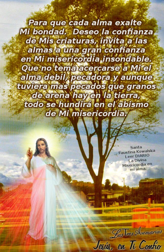 imagen que muestra mensaje de la divina misericordia