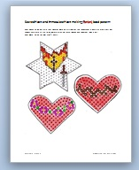 sacred and immaculate heart perler melting bead pattern