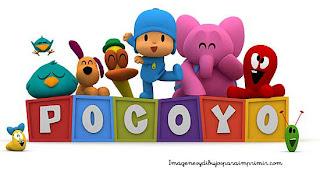 Logotipo de pocoyo con todos sus personajes