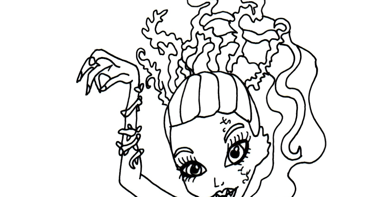 Free Printable Monster High Coloring Pages: Venus McFlytrap Zombie ...