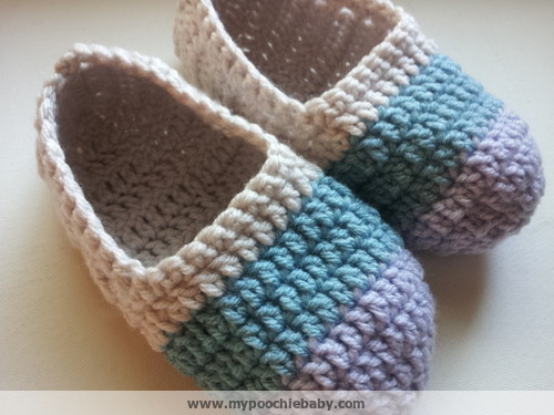 Free Crochet Pattern Easy Slippers : Raising Mimi @PoochieBaby: Womens Crochet Ballet Slippers ...