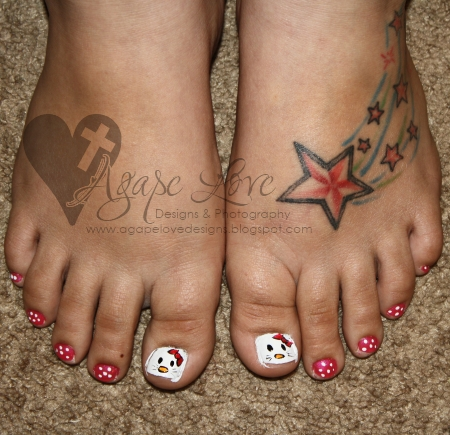 cute hello kitty nail designs. You#39;ve got adorable Hello